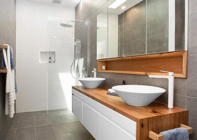 Modern Bathroom With Timber Top Sink