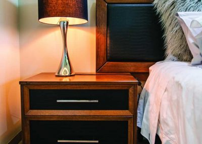 Wooden Bedside Table with Pull-out Drawers