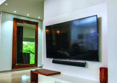 Living Room with Wall Mounted TV Unit