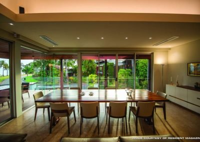 Dining table with Dining Chairs on a glass room