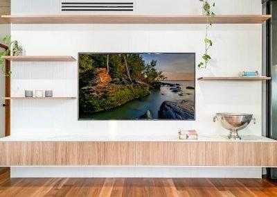Living Room Wooden Cabinet Shelf