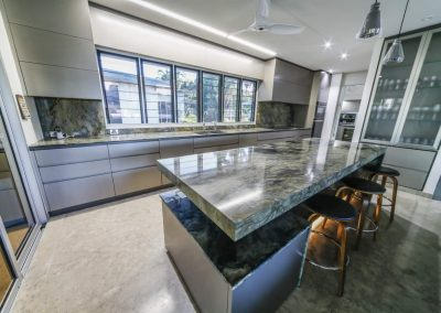 gallery kitchen marble table