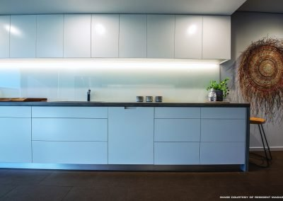 Simple Kitchen design with marble benchtop