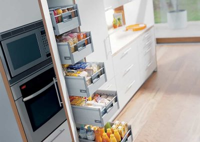 Five Pull-out Drawer for Kitchen Cabinet Pantry