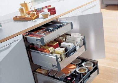 Pull-out Kitchen Pantry for Condiments under the benchtop