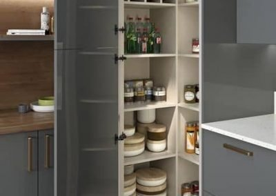 Built-in Kitchen Pantry Beside the Benchtop