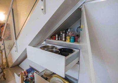 Under Stairs Finger Pull Kitchen Drawer | Reveen