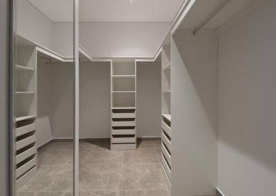 White Walk-in Wardrobe with Mirror | Hannah