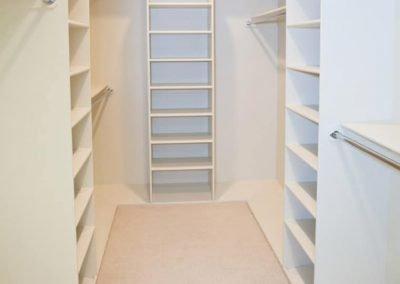 White Walk-in Wardrobe for Bedrooms