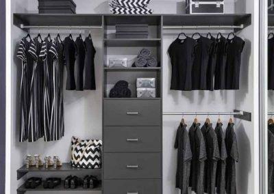 Wardrobe Storage Ideas with drawer | 4kitchens